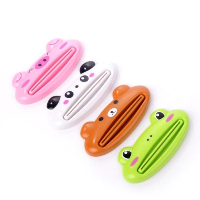 Cute Toothpaste Dispenser Holder Kid Toothpaste Animal Tooth Paste Tube Squeezer Rolling Home Bathroom Supplies Baby 2