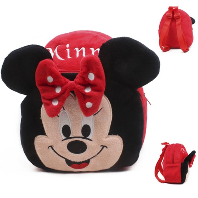 Disney Cute Cartoon Plush Toys Mickey Mouse Minnie Winnie the Pooh The Avengers Figures Backpack Kids 1