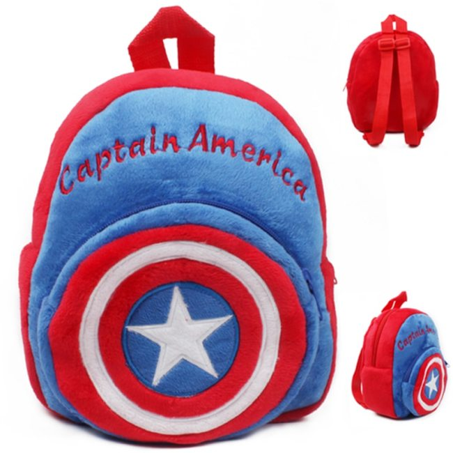 Disney Cute Cartoon Plush Toys Mickey Mouse Minnie Winnie the Pooh The Avengers Figures Backpack Kids 2