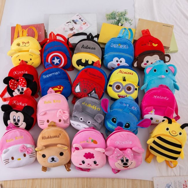 Disney Cute Cartoon Plush Toys Mickey Mouse Minnie Winnie the Pooh The Avengers Figures Backpack Kids
