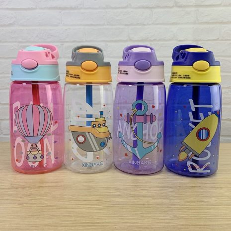 Kids Water Sippy Cup Creative Cartoon Baby Feeding Cups with Straws Leakproof Water Bottles Outdoor Portable 4
