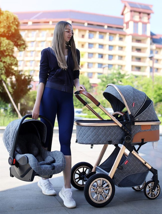 Multi functional 2 in 1 Baby Stroller High landscape Can Sit Reclining Light Folding Two way 11