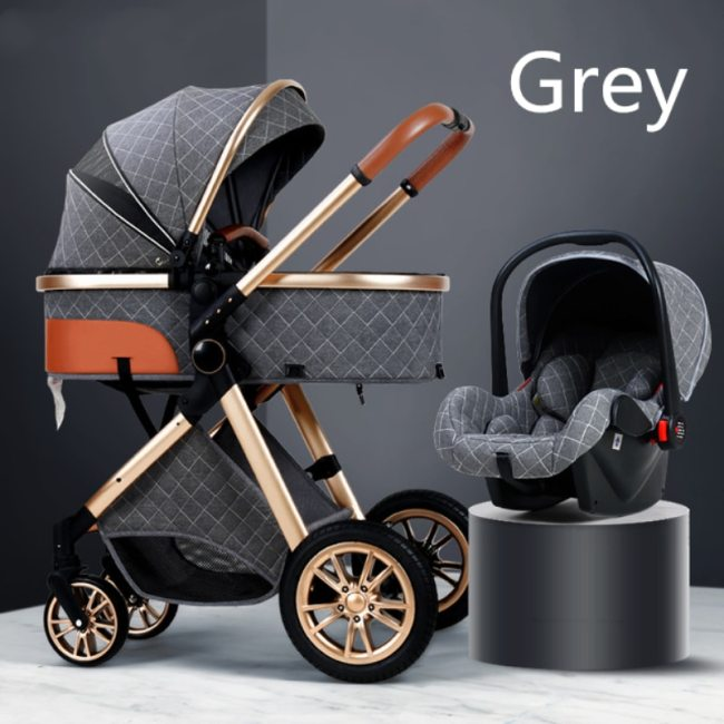 Multi functional 2 in 1 Baby Stroller High landscape Can Sit Reclining Light Folding Two way 4