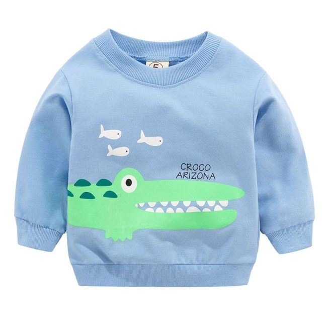 New Baby Boys Girls Sweatshirts Autumn Spring Cartoon Cotton Hoodies Tops Children Kids Long Sleeve T 2