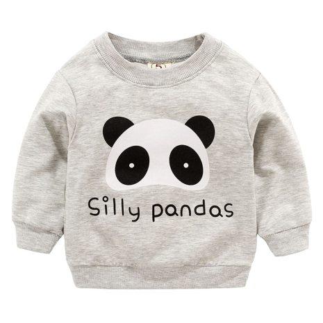 New Baby Boys Girls Sweatshirts Autumn Spring Cartoon Cotton Hoodies Tops Children Kids Long Sleeve T 4