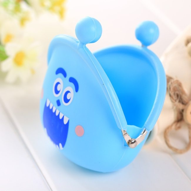 New Fashion Lovely Kawaii Candy Color Cartoon Animal Women Girls Wallet Multicolor Jelly Silicone Coin Bag 3