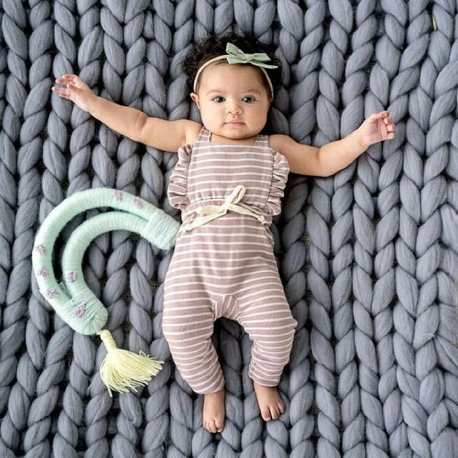 Newborn Baby Girl Boy Backless Striped Ruffle Romper Overalls Jumpsuit Clothes Onesies kid clothing toddler clothes 1