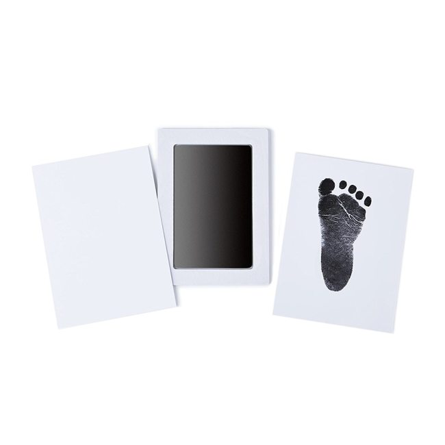 Newborn Baby Handprint Footprint Inkless Non Toxic Touch Ink Pad DIY Photo Frame Girl Boy Infant 1