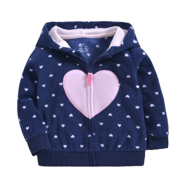 Newborn baby girls clothes Autumn Winter warm Hooded jacket Coat for 0 3T baby boy Floral