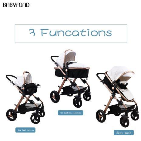 Normal ship 3 in 1 baby strollers and sleeping basket newborn 2 in 1 baby stroller 2