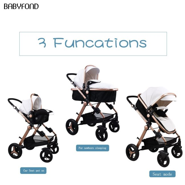 Normal ship 3 in 1 baby strollers and sleeping basket newborn 2 in 1 baby stroller 2