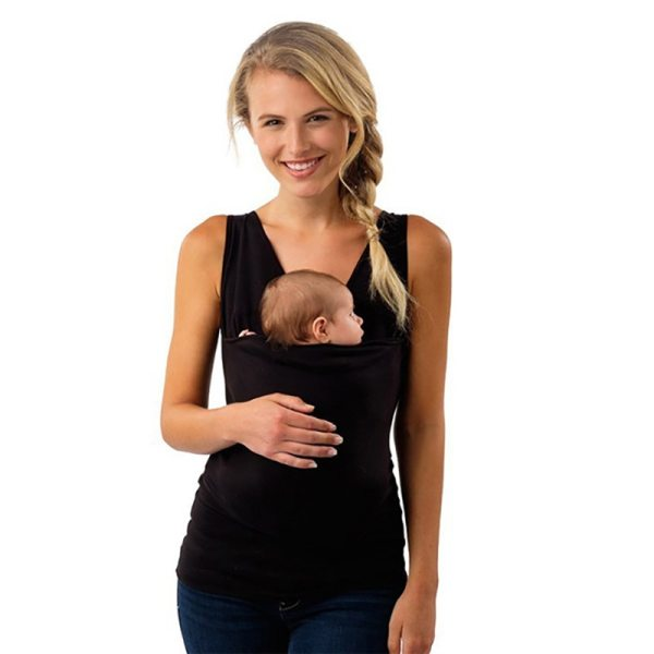 Plus Size S 5XL Baby Carrier Clothing Kangaroo T Shirt for Father Mother with Baby Short 2