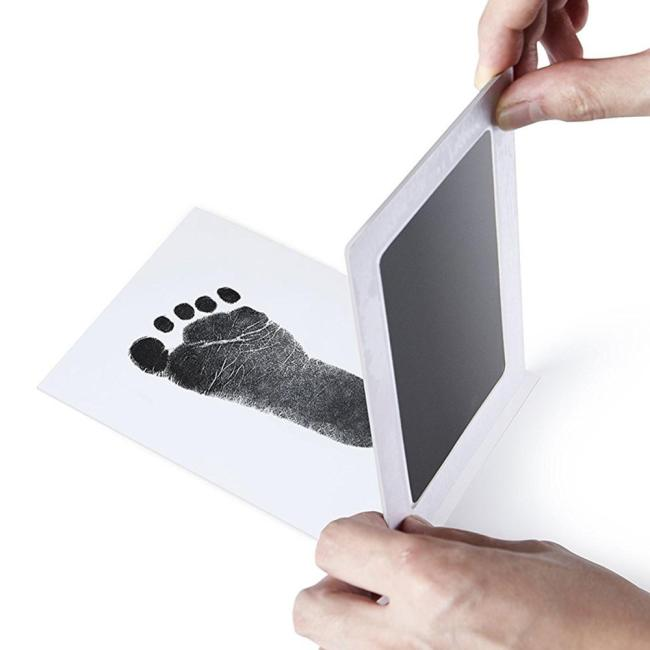 Safe Non toxic Baby Footprints Handprint No Touch Skin Inkless Ink Pads Kits for 0 6 1