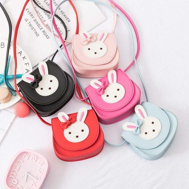2019 Girl Coin Purse Handbag Children Wallet Small Coin Box Bag Cute Rabbit Kid Money Bag