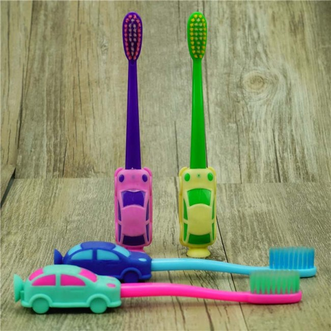 3Pcs Baby Boy Soft bristled Toothbrush Smiling Car Tooth Cleaner Baby Kids Training Dental Care Child 4
