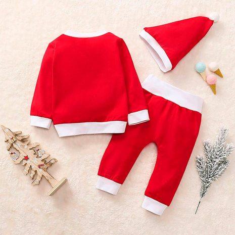Newborn Clothes Baby Girl Clothes Baby Boy Clothes Christmas Cartoon Santa Plaid Print Pajamas Sleepwear Outfits 1