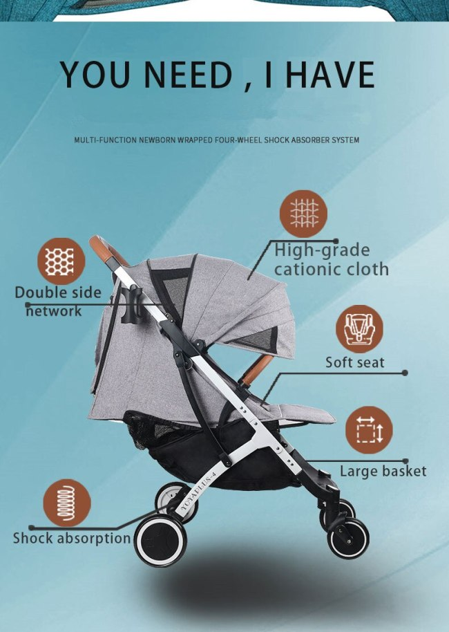 Yoya Plus Original Baby Stroller Travel Aluminum Frame Folding Portable High landscape Free Shipping with Gifts 5