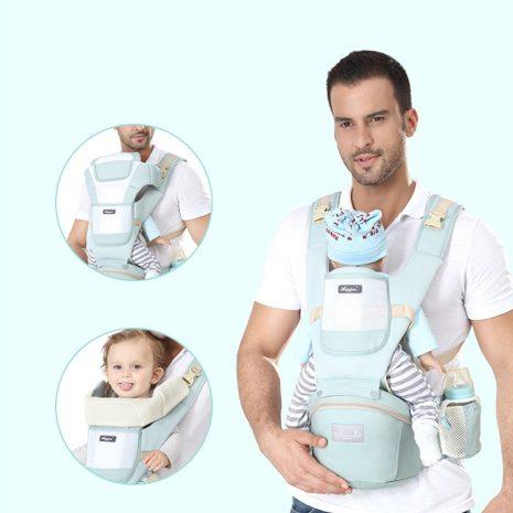 Original Ergonomic Baby Carrier New Born Kids Infant Hipseat Front Facing Kangaroo Sling Wrap for Baby 1