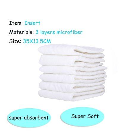 Happyflute HOt Sale OS Pocket Diaper 4pcs set Washable Reusable Baby Nappy New Print Adjustable Baby 5
