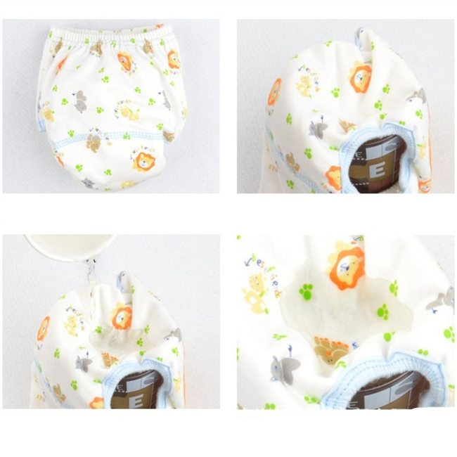 Washable Baby Diapers Reusable Cloth Nappies Waterproof Newborn Cotton Diaper Cover For Children Training Pants Potty 3