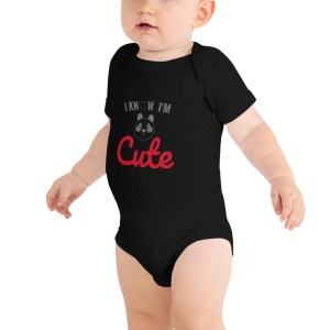 baby short sleeve one piece black 5fef72aa4b1a7