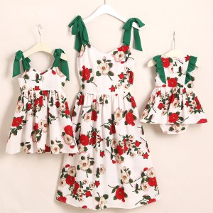 Family Look Butterflies Mother Daughter Dresses Mommy and Me Clothes Mom Mum Mama and Baby Girls