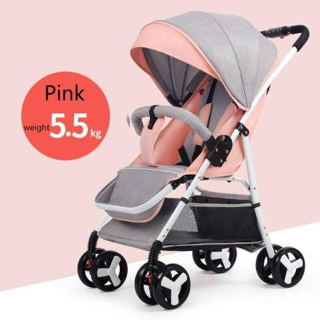 Travel Stroller High Landscape Baby Stroller Baby Buggy Folding Newborn Carriage 2 in 1 5 5KG 2