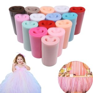 Tulle Roll 15cm 25Yards Roll Fabric Spool Tutu Party Baby Shower Birthday Gift Wrap Wedding Decoration