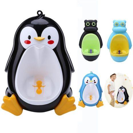 Children Stand Boy Penic PeeBaby Vertical Urinal Babies Boys Potty Urinal InfantToilet Training Frog Penguin Animal