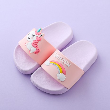 Suihyung Rainbow Unicorn Slippers For Boy Girls New Summer Kids Beach Shoes Baby Toddler Soft Indoor 2