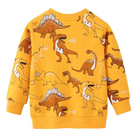 Jumping Meters New Arrivals Boys Girls Clothes Dinosaurs Print Autumn Spring Children s Clothes Hot Selling 1