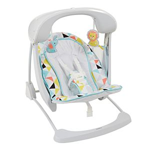 swing chair lagos wooden table chairs swings babiesnstuffs fisher price deluxe take along seat