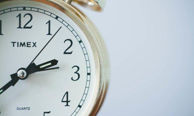 Baby jet lag - Timex clock close up