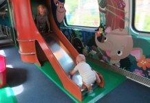 Kids playing on Swiss trains - Train or plane