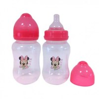 Disney Minnie Mouse Wide Neck Baby Bottle x2