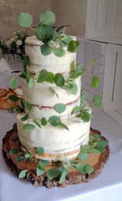 tort ślubny, naked cake, babkarnia