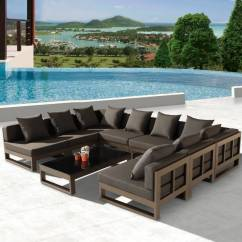U Shaped Chair Arrangement Stackable Covers Amber Modern Outdoor Quotu Quot Shape Large Sectional Sofa For 8
