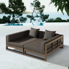 Black Aluminum Outdoor Sofa Classic Furniture Amber Modern Double Modular Daybed