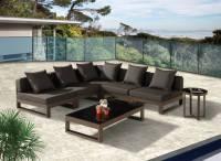 "Amber Modern Outdoor ""V"" Shape Sectional Sofa Set for 5"