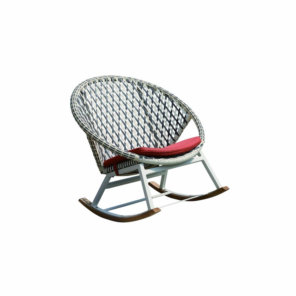 Evian Round Rocking Chair