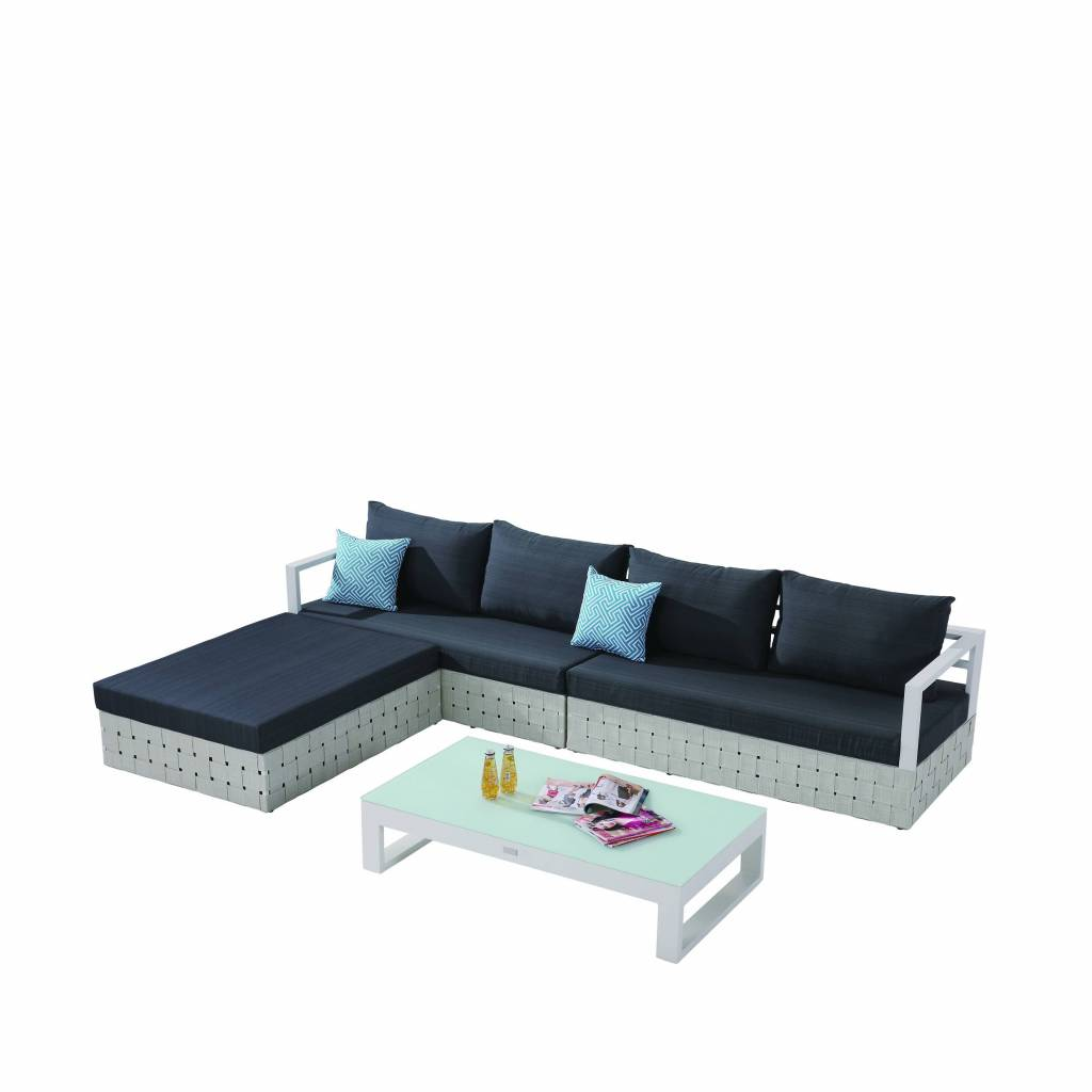 sofa and chaise lounge set istikbal aspen sleeper edge modern outdoor sectional for 4 with