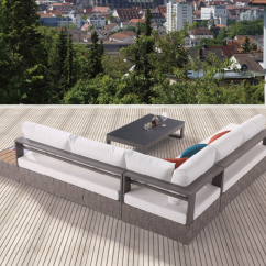 Patio Sling Chair Replacement Glider Rocking And Ottoman Cushions Edge Modern Outdoor Sectional Sofa Set For 5 With Built In Side Table Chaise