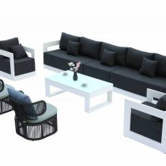 Commercial Sofas And Chairs Reclaimed Wood Rocking Chair Lusso Sofa Set With Venice Rounded Rope Outdoor Babmar