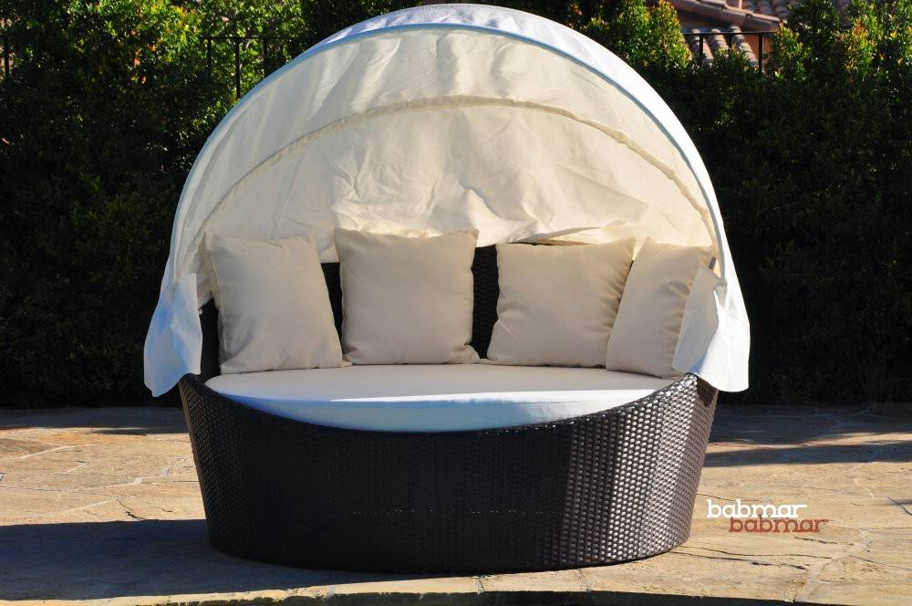 Outdoor Daybed With Canopy Babmarcom Commercial Outdoor