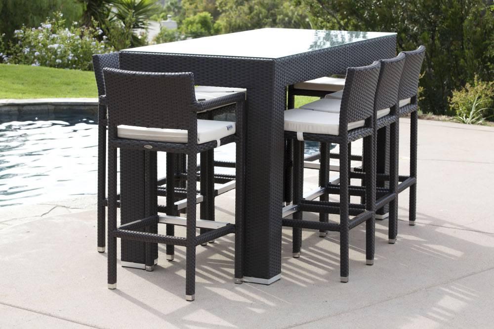 outdoor bar chairs camping chair accessories pandora modern set for 8 with vertigo stools babmar com