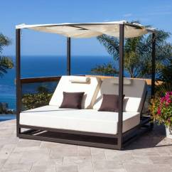 Sofa Beds With Sunbrella Fabric White Rattan Garden Riviera Modern Outdoor Leisure Daybed Canopy