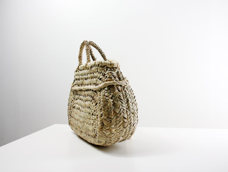 ovale,Korbtasche aus Palmenblatt