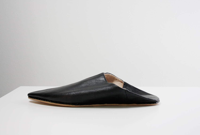 unisex, slip-on-Babouche, slipper, schwarz