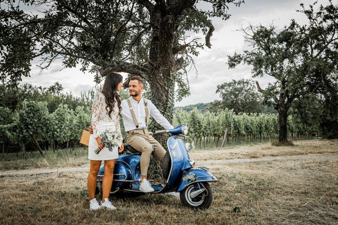Mariage en Vespa - Babouchkatelier