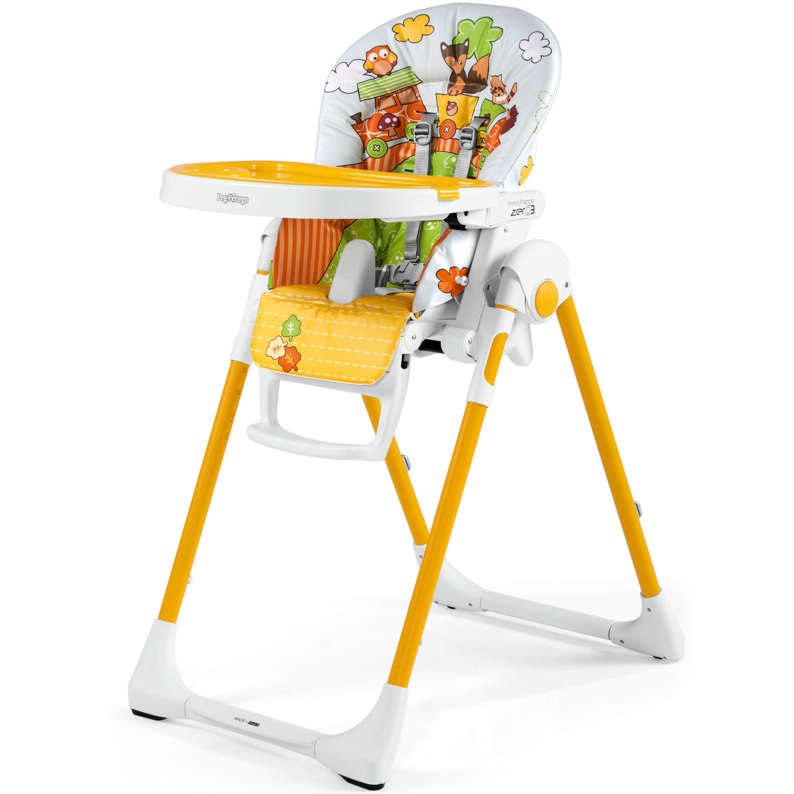 Chair High Chair Peg Perego Prima Pappa Zero3 Fox Friends High Chair Cradle And Chair